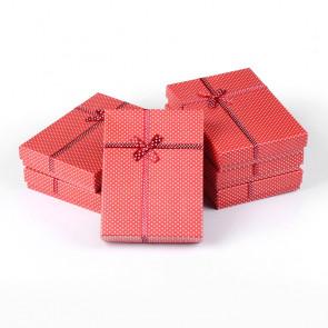 škatla za nakit 160x120x30 mm, rdeče barve, 1 kos
