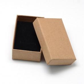 škatla za nakit (za prstan in ogrlico) 8x5x3 cm, rjava, 1 kos