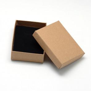 škatla za nakit (za prstan in ogrlico) 90x70x30 mm, rjava, 1 kos