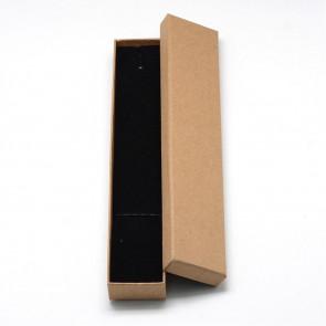 škatla za nakit (za ogrlico in zapestnico) 21x4x2 cm, rjava, 1 kos