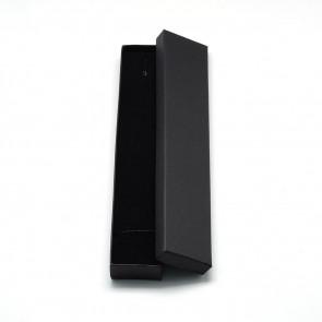 škatla za nakit (za ogrlico in zapestnico) 21x4x2 cm, črna, 1 kos