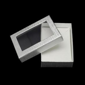 škatla za nakit 90x65x28 mm, srebrne b., 1 kos
