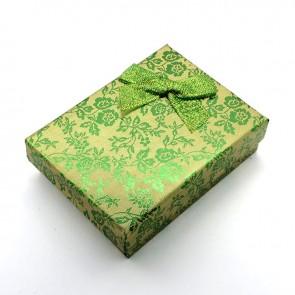 škatla za nakit 93x72x29 mm, zelene barve, 1 kos