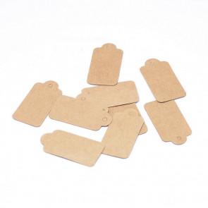 kartonček za nakit (za ceno) 15x30 mm, rjave b., velikost luknje: 2 mm, 1 kos