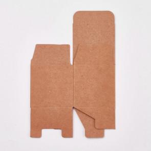 darilna embalaža 5x5x5 cm, rjave barve, 1 kos