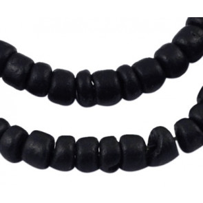 kokos perle 5x3 mm, črne, 1 niz - cca 118 kos