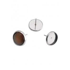 osnova za uhane 12x10 mm, nerjaveče jeklo, velikost kapljice: 8 mm, 1 kos