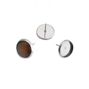osnova za uhane 12 mm, nerjaveče jeklo, velikost kapljice: 10 mm, 1 kos