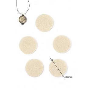 Diffuser - parfumska blazinica iz filca, 3 cm, krem, 1 kos