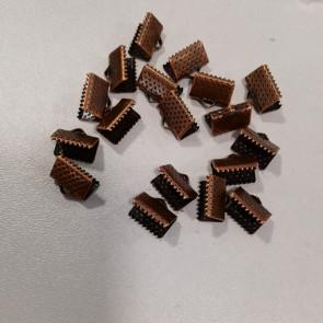 zaključni element za trak/vrvico 10x7x5 mm, bakr. b., 1 kos