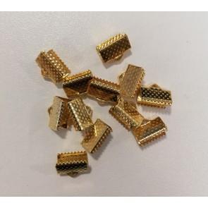 zaključni element za trak/vrvico 10x7x5 mm, zlat, 1 kos