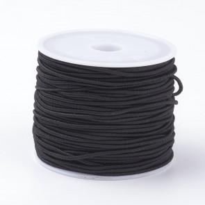 elastična vrvica, 1mm, črna, 18-20 m