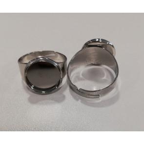 osnova za prstan za kapljico 12 mm, b. platine, 1 kos