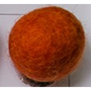 filc kroglice 2 cm, blaze orange, 1 kos
