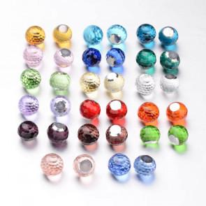 steklena kroglica 10 x 9 mm, nepravilno okrogla, brez luknje, mix, 1 kos