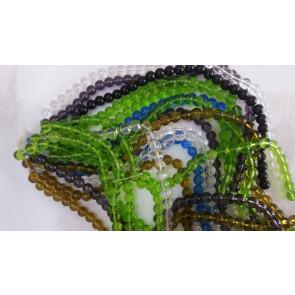 steklene perle, okrogle, mix, 10mm, niz cca. 34 kos