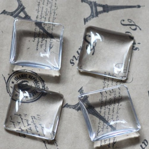 steklena kapljica 25x25 mm, prozorna, 1 kos