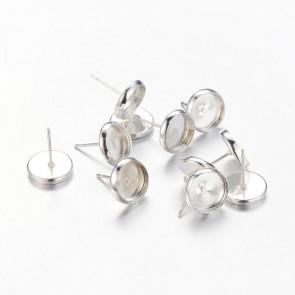 osnova za uhane 12x10x0.7 mm, srebrne b., brez niklja, velikost kapljice: 8 mm, 1 kos