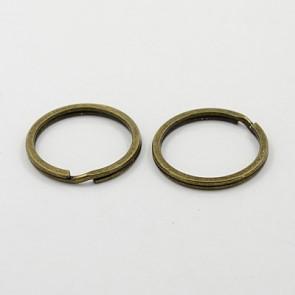 osnova za obesek (za ključe) 21 mm, antik, 1 kos