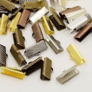 zaključni element za trak/vrvico 20x8x5 mm, srebr. b., brez niklja, 1 kos