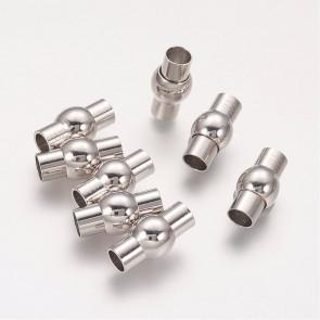 zaključni element 17x9 mm, magnet, platinaste b., brez niklja, velikost luknje: 5 mm, 1 kos