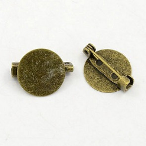 osnova za broško 15x19 mm, antik, 1 kos