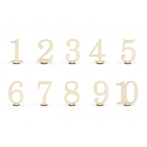 oznake miz, les, 10,5 cm, 1 komplet (10 kosov)