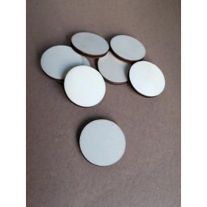 lesena kapljica - ravna 35 mm, naravna, 1 kos