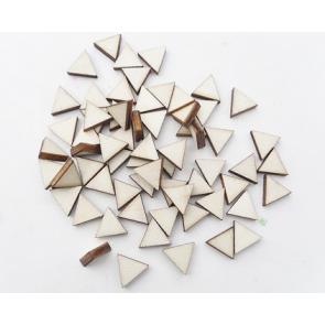 lesena kapljica - trikotnik 10 mm, naravna, 1 kos