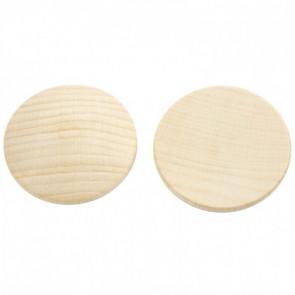 lesena kapljica 12 mm - rahlo izbočena, naravna, 1 kos