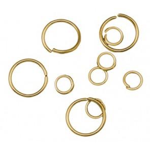 zaključni obroček 4mm~20mm, zlate b., 50 gr