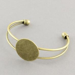 kovinska osnova za zapestnico 63 mm, antik, 1 kos