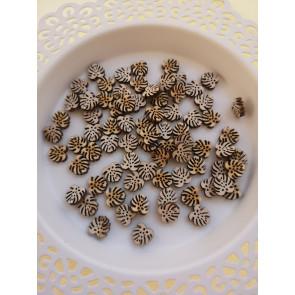 lesena kapljica - list (2), cca 10 mm, naravna, 1 kos