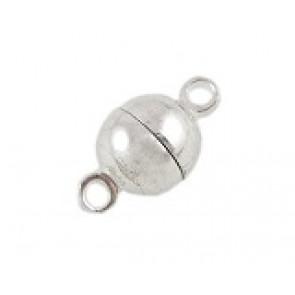 zaključni element 11.5x6mm, magnet, srebrne b., 1 kos