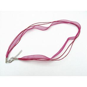 osnova za ogrlico z zaključkom, roza, 1 kos