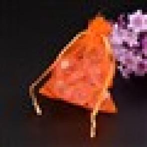 organza vrečke 7x9 cm, oranžna, 1 kos