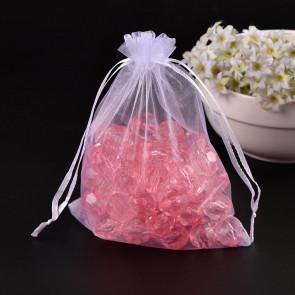 organza vrečke 14x17 cm, bele, 1 kos