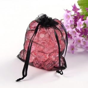 organza vrečke 12x10 cm, črna, 1 kos