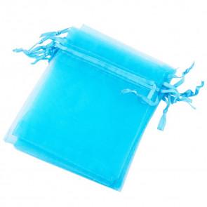 organza vrečke 12x10 cm, deep Sky Blue, 1 kos