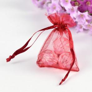 organza vrečke 5x7 cm, rdeče, 1 kos