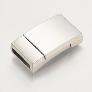 zaključni element 23x13x5 mm, magnet, platinaste b., velikost (širina) luknje: 10 mm, 1 kos