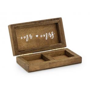 lesena škatla za prstana 10 x 5,5 cm, 1 kos