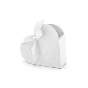 škatla srce, bela, 10x9x3 cm, 1 kos