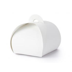 darilna embalaža, 6x6x5,5 cm, bela, 1 kos