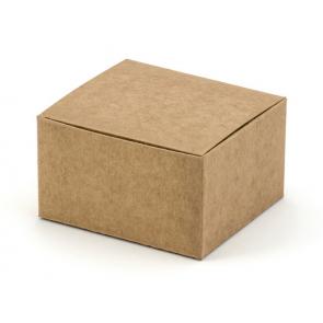 darilna embalaža, 6x5,5x3,5 cm, rjava, 1 kos