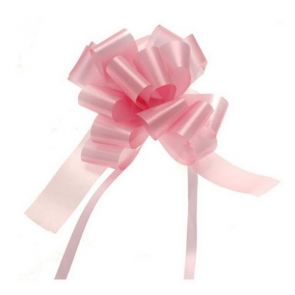 mašne na poteg, 12x18 cm, baby roza b., 1 kos