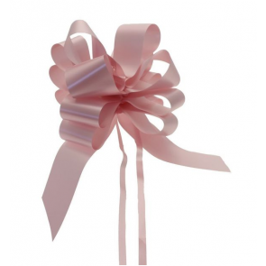 mašne na poteg, 15x18 cm, baby roza b., 1 kos