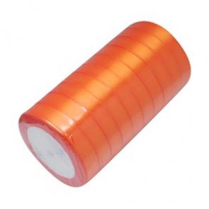 satenast trak oranžen, širina: 12 mm, dolžina: 22 m