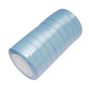 satenast trak svetlo moder, širina: 20 mm, dolžina: 22 m