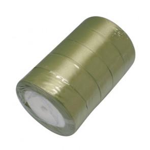 satenast trak oilvno zelen, širina: 25 mm, dolžina: 22 m